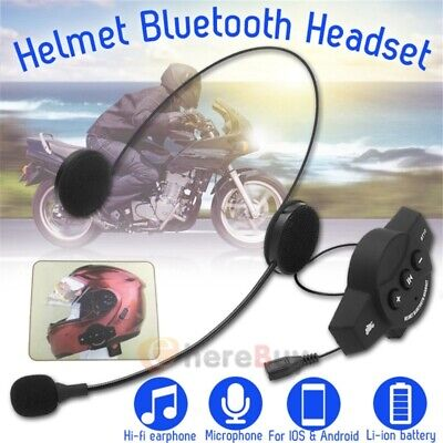 BT Mic Bluetooth 4.0 Motorcycle Helmet Interphone Intercom Headset 6 Rider