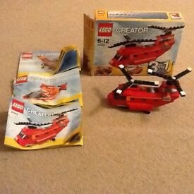 Lego Creator no 31003 3 in 1 Helicopter/Plane/Hovercraft