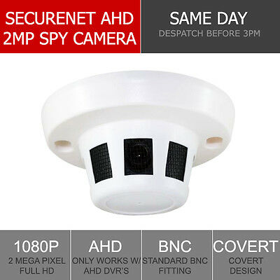 Securenet HD-S220 1080P Sony 2MP HD Covert CCTV Smoke Detector 3.6mm Sony Covert