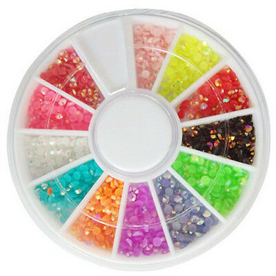 3D New Hot Nail Art Rhinestones Glitters Acrylic Tips Decoration Manicure Wheel on Rummage