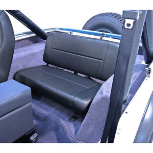 Jeep Wrangler Cj Yj 55-95 Fixed Rear Back Seat Black Denim  X 13461.15