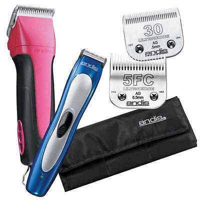 65450 Kit - Fuchsia Excel 5 Speed Clipper Dog & Pet Grooming Set Kits Inc Trimmer & 2 Blades