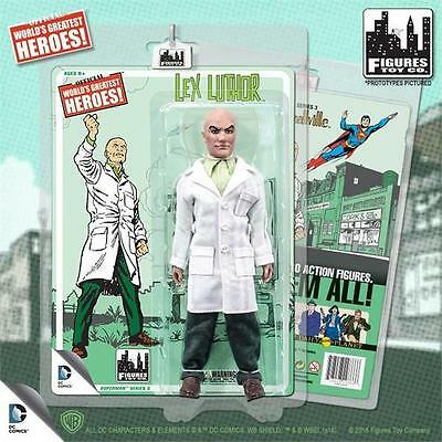 SUPERMAN RETRO 8 INCH ACTION FIGURE; LEX LUTHOR  SERIES 3  MOSC  NEW