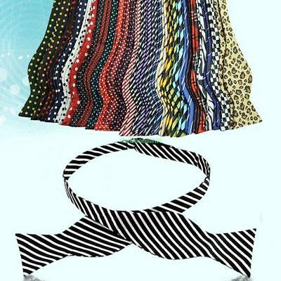Fashion Bow Tie Adjustable Necktie Men's Multi Color Self Neckwear Ties Cravat - Cheap Bow Ties
