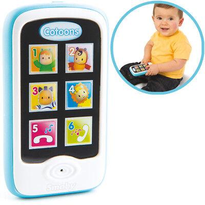 Smoby Cotoons Mein erstes Smartphone mit Aufnahmefunktion (Blau) Erstes Smartphone