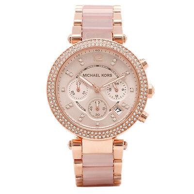 Michael Kors MK5896 Women's Parker Rose Gold Blush Crystal Set Watch