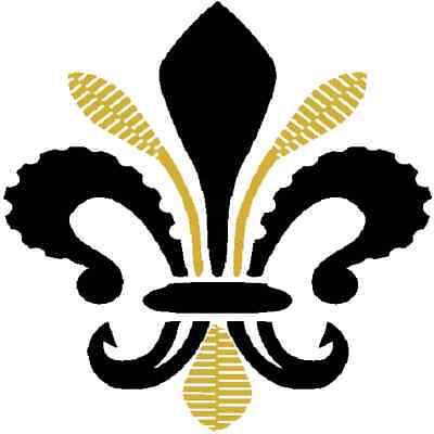 30 Custom French Black Fleur De Lis Personalized Address Labels