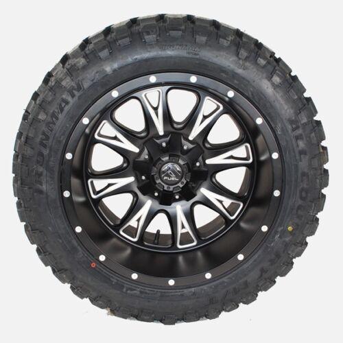 20x12 Fuel Thottle D513 Black 35x12.50r20 Ironman Mt Wheels Tires