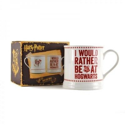 - NEW MUG OFFICIAL HARRY POTTER I WOULD RATHER BE AT HOGWARTS DRINKWARE WIZARD
