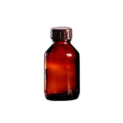 5 x Braunglasflasche 100ml / Medizinflasche inkl. Standard-Schraubverschlus