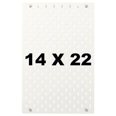 New Ikea Skadis White Pegboard 14x22 Wall Organizer Tool Storage Skdis