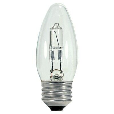 Satco S2457 43W B10.5 Torpedo Clear Halogen light bulb - 60w equiv.