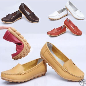 Reliable-Womens-Leather-Ballet-Flats-Comfort-Anti-skid-Casual-Shoes-Multi-size