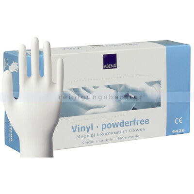 Einmalhandschuhe aus Vinyl Abena transparent L Einweghandschuhe Schutzhandschuhe