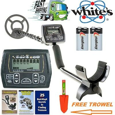 "Whites Coinmaster Metal Detector with Waterproof 9"" Spider Search Coil Free Trow"