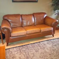Price Drop!!! Leather Sofa and Loveseat