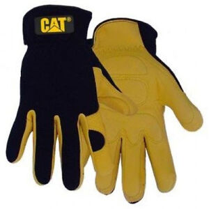 CATERPILLAR-CAT-DEER-SKIN-LEATHER-WORK-GLOVES-SZ-LARGE