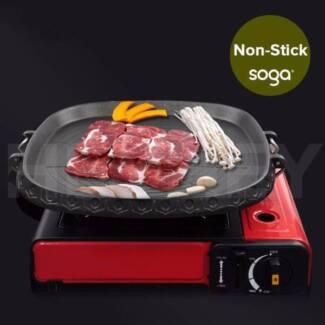 Portable Korean BBQ Butane Gas Stove Stone Grill Plate Non Stick