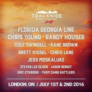 Trackside Music Festival - Two tickets