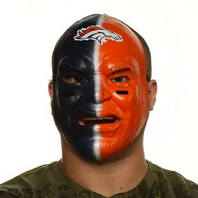 DENVER BRONCOS NFL FAN FACE MASK HALLOWEEN FACE PAINT CLOSEOUT - Halloween Closeout