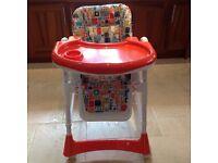 Kiddicare adjustable high chair