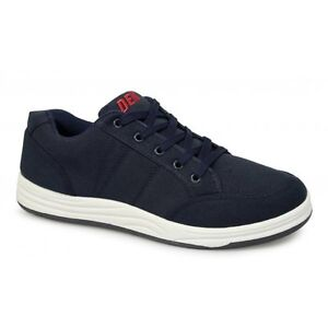 Mens-Canvas-5-Eyelet-Leisure-Holiday-Deck-Shoes-Trainers-Navy-Blue-New