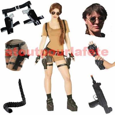 Kostüm Lara Croft Tomb Raider Frau Erwachsene Zubehör zum (Tomb Raider Kostüm)