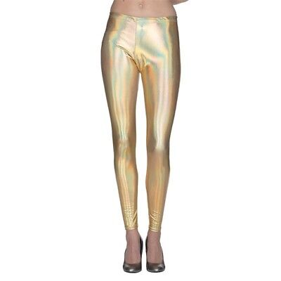 KOSTÜM ZUBEHÖR LEGGINGS METALLIC GOLD FASCHING - Metallic Leggings Kostüm