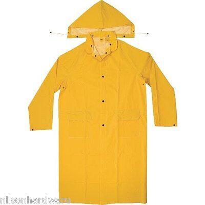 Mens 2-Piece Full Length PVC Raincoat