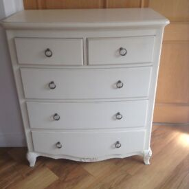 Beautiful Ivory Chest of Drawers