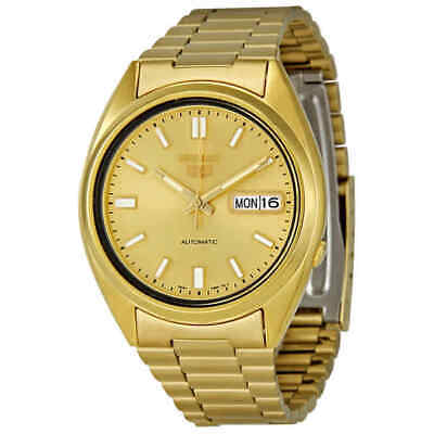 Seiko Series 5 Automatic Gold Dial Yellow Gold-tone Men's Watch SNXS80