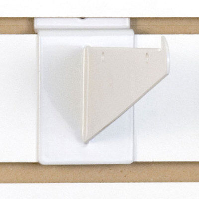 Heavy Duty Slatwall Shelf Bracket In White 6 Inch - Box Of 10