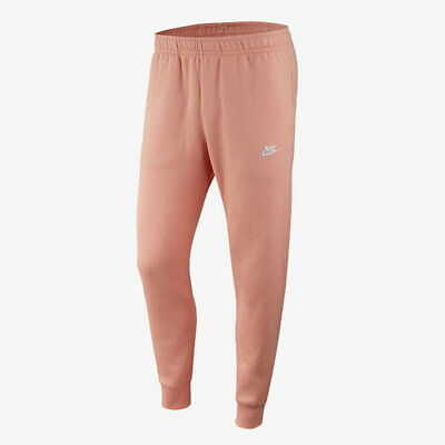 NIKE $55 Men's Sportswear Club Fleece Jogger Taper Leg Pants BV2671-606 XL Pink