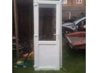 Used but very good conditioned upvc door and frame complete