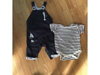 6/9 month next and red baker bundle. 10+ sleep suits, romper sets, shorts and t-shirts and jackets