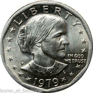 1979p SUSAN B ANTHONY WIDE RIM/NEAR DATE GEM BRILLIANT/UNCIRCULATED DOLLAR-NICE