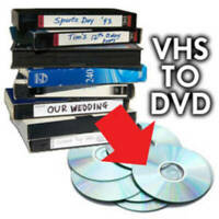 We convert to DVD all VCR-VHS family videotapes PAL/ Secam/NTSC