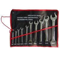 10 Pieces Double Open-End Wrench Set
