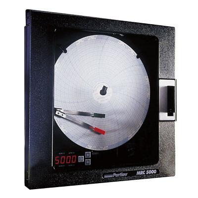 New Partlow Mrc5000 2 Pen Chart Recorder 51100011 Factory Fresh Full Warranty