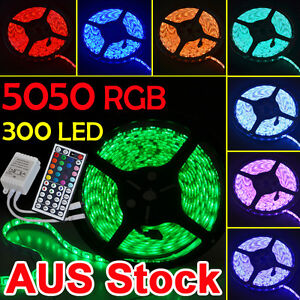 Waterproof-5050-RGB-5M-300-LED-SMD-LED-Strip-Light-12V-Waterproof-IR-Controlle