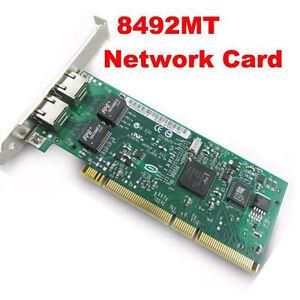 Intel 8492MT PRO/1000MT Dual Port Server PCI Adapter Network Card at
