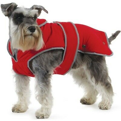 Ancol Muddy Paws Stormguard Poppy Red Waterproof Fleece Lined Dog Coat New 10