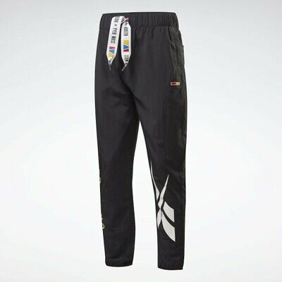 Reebok By Pyer Moss Black Roomy Graphic Woven Pants
