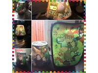 Ben 10 lamp, lamp shade and storage