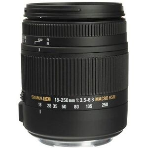 Sigma 18-250mm F3.5-6.3 DC Macro OS HSM for Canon EF Mount  LA L