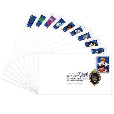 USPS New Disney Villains Digital Color Postmark set of 10