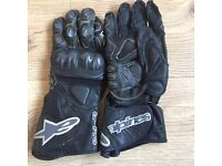 Alpine star soft leather gloves - medium