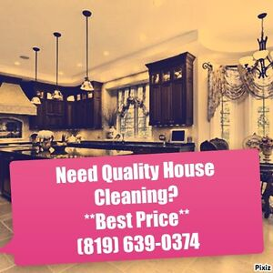 $17 Hrs Aylmer/Gatineau/Hull Quality House and Condo Cleaning