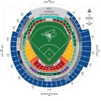 blue Jays tickets for July/August