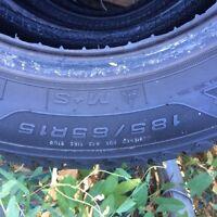 185/65R15  Winter tires 99% thread...